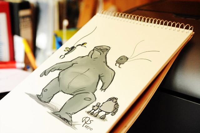 Monster & robots sketch