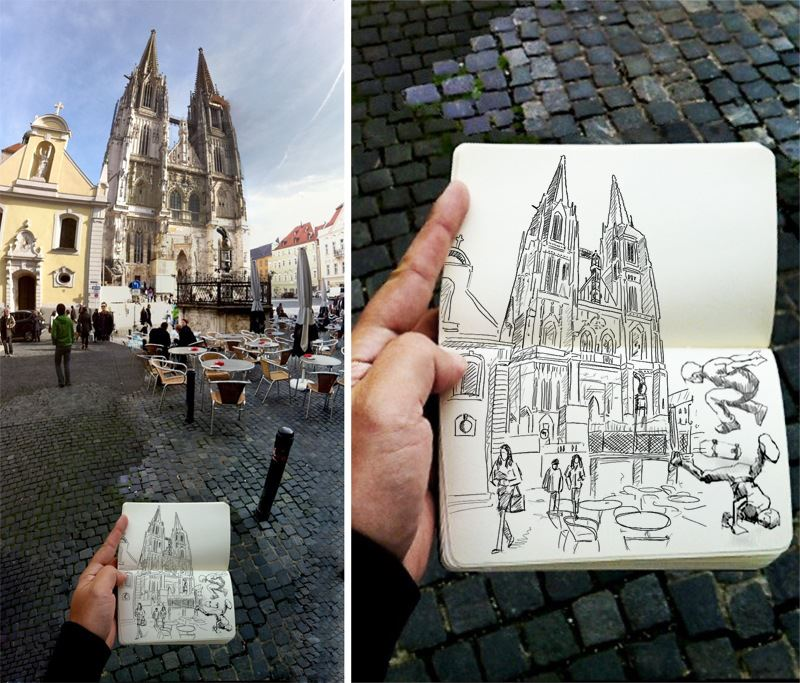 Sketching: The Regensburg Cathedral