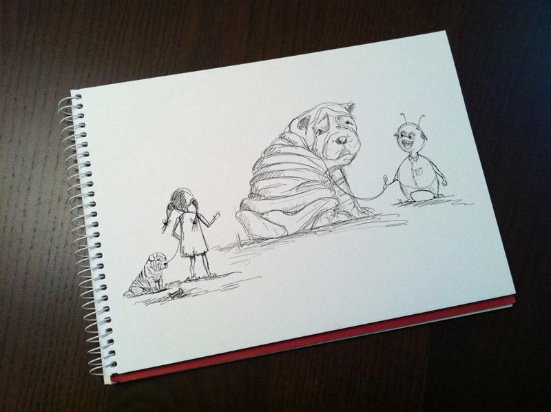 Sketching: Sergio's dog