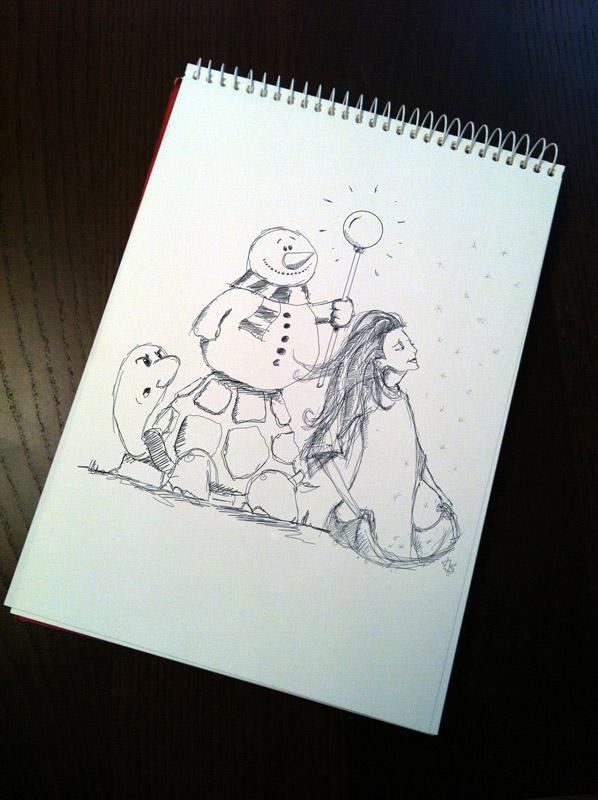 Quick sketch: Snowman 2012