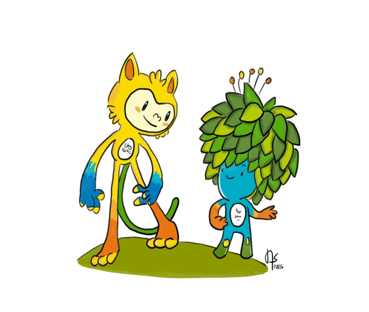 Rio 2016 mascots
